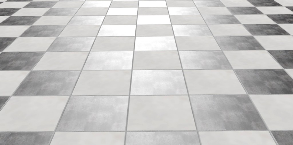 tile floor with clean grout