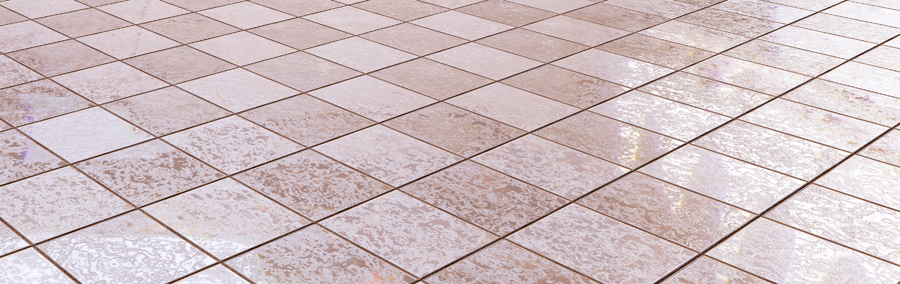 3d rendering of clean bath tiles floor
