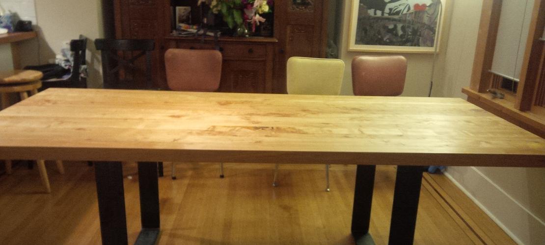 CROPPED Maple kitchen table w Danish oil Daniel S 2