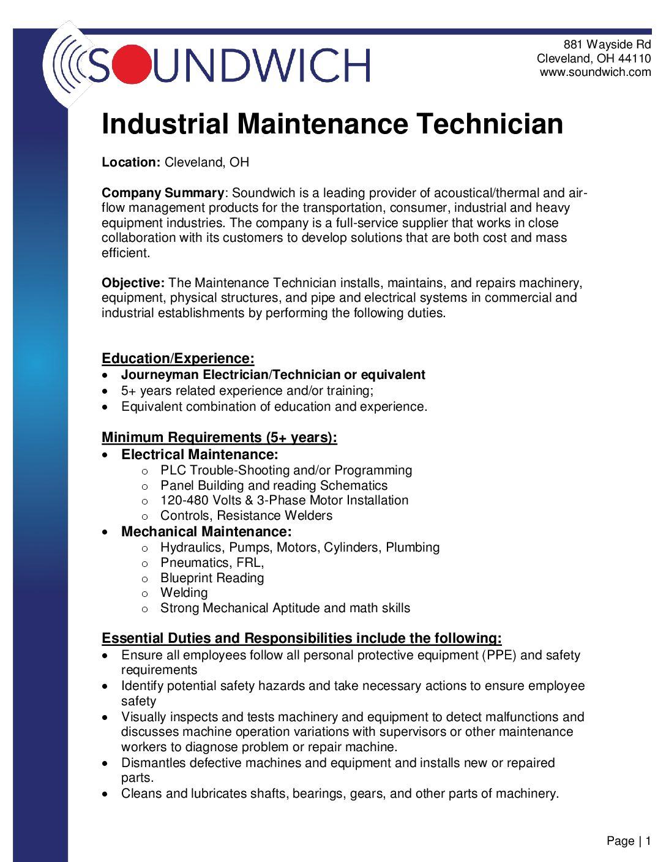 Maintenance Technician2 Dan T Moore Company