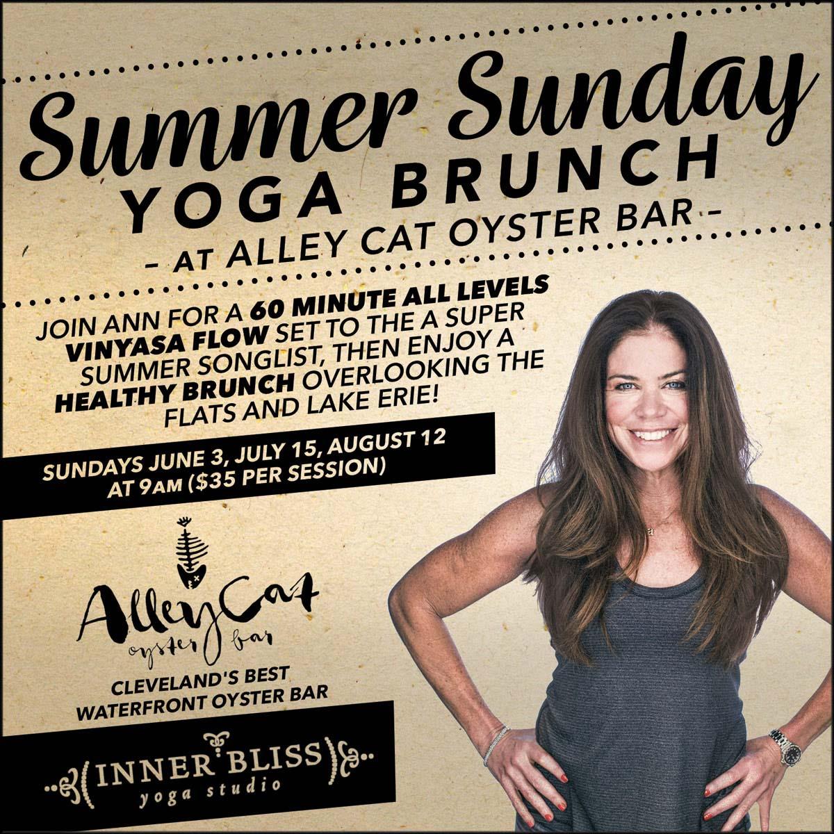 Summer Sunday Yoga Brunch at Alley Cat Oyster Bar