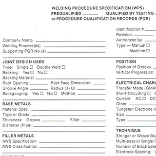 WPS Qualification Sample