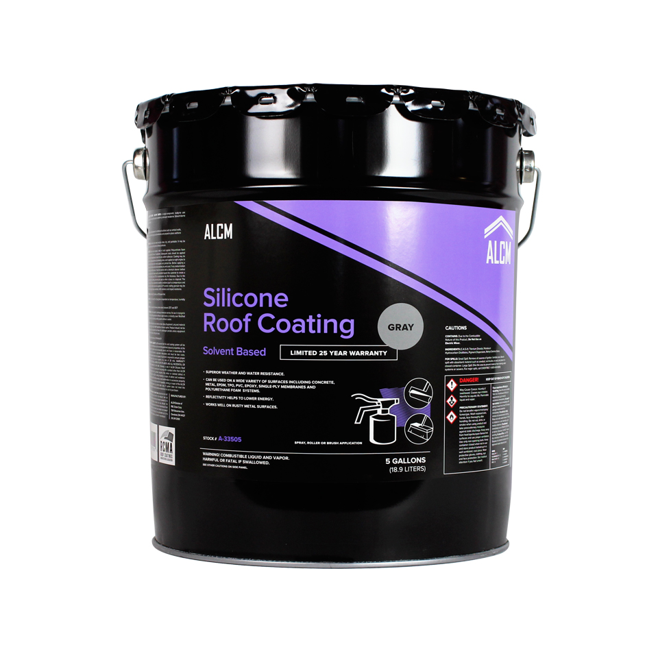 Silicone Roof Coating Standard Solids Alcm